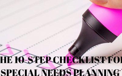 Special Needs Planning Checklist